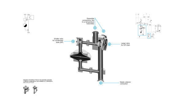 CAD Valve Bottom Drain Assembly