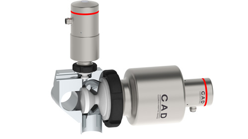 Rattiinox CAD valve on pipe